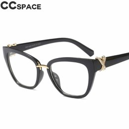 09d6ccb03 rhinestone eyeglass frames 2019 - 2018 Luxury Rhinestone Glasses Frames  Women Cat Eye Eyeglasses Accessories Designer