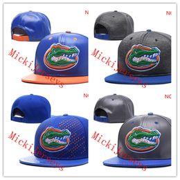 Chapeau ajusté d'or en Ligne-NCAA Florida Gators Snapback Caps Noir rouge gris Royal Bleu blanc Or Bonnets Bonnets Tricotés Florida Gators Casquettes taille unique