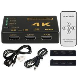 HDMI Splitter Switch Box Ultra HD 5-портовый 4K 3D 1080P ИК-пульт дистанционного управления Селектор 5 в 1 Удлинитель для HDTV 1080P Vedio от