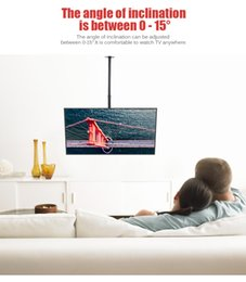 Wholesale Lcd Panel 15 - Adjustable Tilt LED LCD TV Ceiling Mount Bracket 32-63 inch 360 Degree Rotation Down 15 Degree