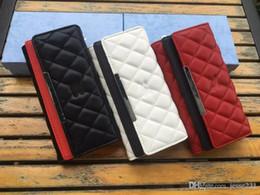 Wholesale white lycra dresses - High quality pu leather brand designer wallet men women designer card wallets pocket bag European long style brand purse