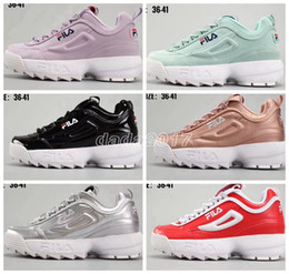 Wholesale platform trainers - 2018 Fashion Casual Shoes White Low Disruptors 2 II Women Raf Simons Sawtooth Shoe Sneakers Platform Red bottoms Off Chaussures Men Trainers