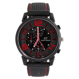 Wholesale led car watch - Top Brand Xfcs GT F1 Car Racing Big Dial Men Sport Watches Silicone Band Quartz Military Mens Wrist Watch Fashion Casual Relogio