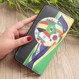 5 unids 2018 Nueva Rusia Copa Mundial de Fútbol Billetera de Fútbol Regalos Creativos de la Mano Paquete de Bolsas para Teléfono Móvil desde fabricantes