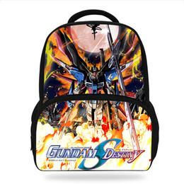 robot bags Promo Codes - 2018 Newest Cartoon Gundam Seed Children Printing Backpacks For Teenage Girls School Bags POP ROBOT Book bags For Kids Boys