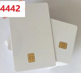 Chip card online-¡En venta! 200pcs / Lot DHL. Chip SLE4442 Chip inteligente tarjeta IC chip grande SLE 4442 Chip tarjeta PVC