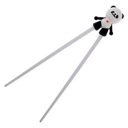 Canada 19 Paires Silicone Bande Dessinée Panda Aide Chopstick Enfants Bébé Formation Formation Baguettes Débutant Facile Utilisation palillos chino cheap easy learn Offre