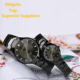 Wholesale Tungsten Watch Diamond - Top hot sale Men Women Couple Watches Fashion diamond watch Tungsten steel alloy Dress Watch High Quality Luxury Wristwatch Quartz watch