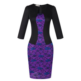 falso vestido sexy Rebajas 2018 Classic falsa de dos piezas de las mujeres profesionales de gran tamaño sexy bolso de cadera lápiz vestido destaca la hermosa curva (dando el cinturón)