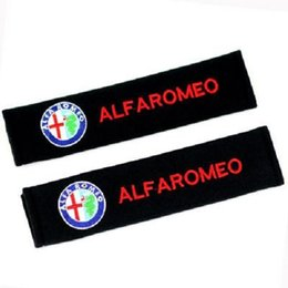 Wholesale Alfa Romeo 166 - 1 Pair Cotton Car Seat Belt Covers Shoulder Pad Auto Seatbelt Shoulder Pads Pair for Alfa Romeo