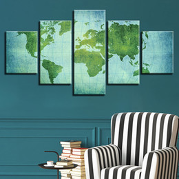 Shop vintage world map wall art uk vintage world map wall art free canvas wall art poster 5 pieces vintage world map painting living room home decor hd prints office modular pictures framework gumiabroncs Gallery