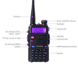 Wholesale Vhf Uhf Handheld Transceivers - Zastone V8 Black Portable Radio Walkie Talkie Ham Radio Two Way VHF and UHF 16CH CB Handheld Transceiver