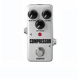 Canada KOKKO FCP2 Compresseur Guitare Effet Pédale Mini Électrique Basse Guitare Effets Ture Bypass Livraison Gratuite supplier mini pedal effect Offre