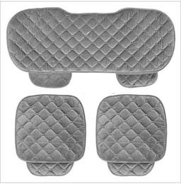 Argentina 5 asientos juego de fundas de asiento de coche para asiento trasero trasero conjunto de sillas Mujeres lindo cojín del asiento de coche de terciopelo de seda suave Suministro