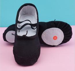Scarpe da ballo per bambini in bambini da 22-40 metri, scarpe da allenamento con fondo morbido in pelle di bovino e scarpe laterali con suola in 4 colori all'ingrosso da treno maiale fornitori