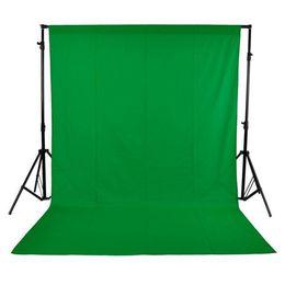 2019 8x8ft foto sullo sfondo 1.6X3m fotografia Studio fotografico Schermo verde Chiave cromatica Sfondo Sfondo per Studio Foto illuminazione Non tessuto