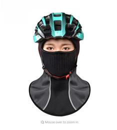 Wholesale Face Mask Winter Running - Rockbros Winter Cycling Cap Windproof Thermal Face Mask Balaclava Bandana Sport Ski Running Bike Bicycle Neck Hat Head Scarf Men