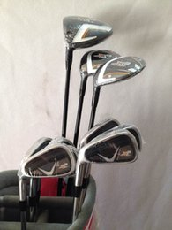 Wholesale Left Handed Golf Clubs - Left Handed Complete Set Golf Clubs X2 hot Driver + 3# 5# Fairway woods + X2 hot Irons 456789PAS Total 12PCS