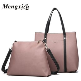 MENGXILU Brand Fashion Women Shoulder Bags Pu Leather Belt 2pcs Composite  Bag Luxury Design Women Messenger Bag Female Handbags b5d31df4c08d8