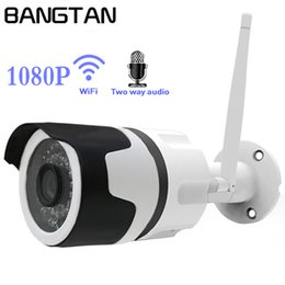 Wholesale outdoor camera audio - Wifi outdoor IP camera 1080P Waterproof 2.0MP Wireless Security Camera Metal Two Way Audio TF Card Record P2P
