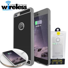 Wholesale receiver iphone - QI Wireless Charger Receiver cases phone Case Universal Adapter 5V 1A Charging with package For iPhone 7 6 6S Plus