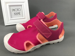 Wholesale Heeled Shoes For Kids - Children's Brand Sandals Cover Head Summer Sandals Non-Slip Cool Sandals Beach Shoes For Kids Free Shhipping