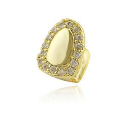 2019 diamantes de grillz Moda Hiphop dientes Grillz diamantes para Halloween 2018 Nueva joyería Cubic Zircon lujo CZ Vampiro Grillz oro plateado diamantes de grillz baratos