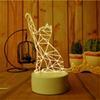 2019 glückliche katze leuchtet 3D Led Nachtlicht Ändern Neuheit Tischlampe Wohnkultur Nachttischlampe 3d Kind Geschenke 2018 Neue 7 Farbe Lucky Cat günstig glückliche katze leuchtet