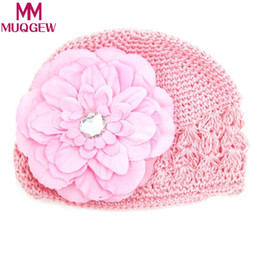 442c000950d MUQGEW cool Toddlers Infant Baby Girl Fashion Flower Hollow Out Hat  Headwear Knitted Hat newborn photography accessories prop