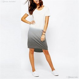 Wholesale-Summer Style 2016 Casual T shirt Dress Brand New Stylish Short  Sleeve O-neck Loose Asymmetrical Hem Dresses Plus Size vestidos a5e1820af00d