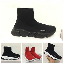 Wholesale Cotton Fabric Knit - Speed Trainer Black Knit High Socks Men Women Sneakers New Arrival Cheap Mercurial XI Elasticity Slip On Casual Shoes Boot Size 36-45
