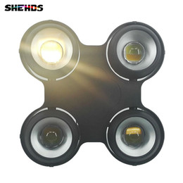 Wholesale Audience Lights - New 4x100W 400W Led COB Audience Blinder Light Warm+Cool White Background Stage Light Waterproof blinder,IP65 Fan Outdoor DMX512
