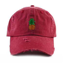 4f453e3f9ad1a High quality men women Pineapple Dad Hat Baseball Cap Polo Style  Unconstructed Fashion Unisex Dad cap hats washed truckl caps pineapple cap  on sale
