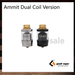 Wholesale Metal Sides - GeekVape Ammit RTA Dual Coil Version 3ml 6ml Tank Capacity Option 20mm Postless Build Deck Four Path Airflow from Bottom Side 100% Original