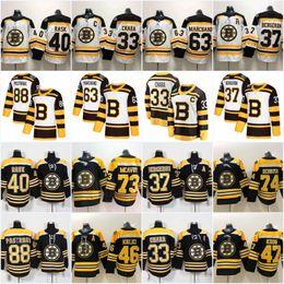 Boston Bruins 2019 Winter Classic 37 Patrice 46 David Krejci 63 Brad  Marchand 88 David Pastrnak Torey Krug Charlie McAvoy Jersey boston bruins  winter ... b019e8237