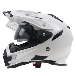 Wholesale Adult Motorcycle Helmet Xl - 6 color available THH brand Adventure Motorcycle Helmet Double Lens off road helmet DOT ECE approved DD ring buckle for Adults