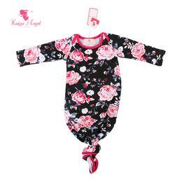 Vestido de dormir del bebé del ángel de Kaiya manga larga rosada de la venta caliente del bebé negro 2017 nuevo bebé al por mayor de las caídas del sueño Ropa desde fabricantes