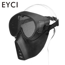 2019 maschere di pollo Green Black Cs Eat Mask Mask Maschera Militarymask Faceguard Cs Face Head-Mounted Field Equipment maschere di pollo economici
