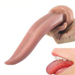 2019 vagina dick Big Tongue Dildo Realista Vagina Estimular Masturbador Grande Pau Anal Butt Plug Brinquedos Sexuais Para As Mulheres Loja Erótica vagina dick barato