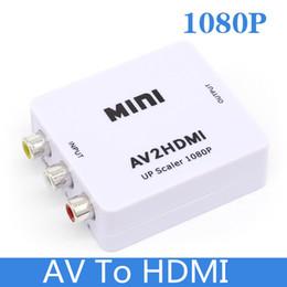 adaptador pc rca Rebajas Adaptador convertidor Mini AV a HDMI Full HD 1080P Adaptador convertidor RCA CVBS AV a HDMI para TV HDTV PS3 PS4 PC DVD Proyector Xbox