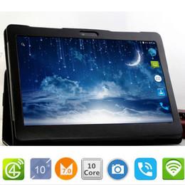 comprimidos de rockchip Desconto Dom gratuito Caso 10.1 'Tablets Android 10 Núcleo 128 GB ROM Câmera Dupla 8MP Dual SIM Tablet PC GPS do telefone do bluetooth MT6797 320 dpI
