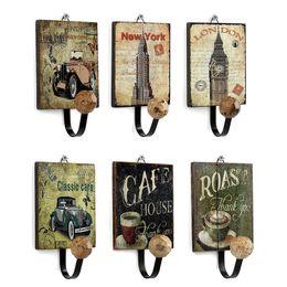Wholesale Clothing Store Hangers - Wooden Vintage Hook Wall Hanger Cloth & Coat Hanger Wall Decorative Hook Coat and Hat Clothing Store Shop Hooks