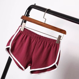 Wholesale Color Elastic Waistband - Women Summer Style Comfortable Solid Color Casual Elastic Workout Waistband Casual Loose Shorts