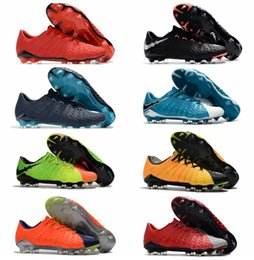 Wholesale Genuine Leather Boots For Cheap - 2018 original soccer cleats Hypervenom Phantom 3 III FG low top neymar boots cheap soccer shoes for men authentic football boots mens new
