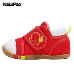 Wholesale health boys - KALUPAO Baby Girls Boys Shoes First Walkers Health First Step Shoes Fashion Casual Sneakers Canvas Soft Sole Toddler