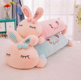 2019 cadeaux rex lapin Oreiller lapin créatif mignon rex lapin en peluche jouet siesta oreiller amour lapin poupée enfants cadeau animaux en peluche cadeaux rex lapin pas cher