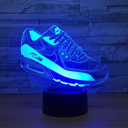 Zapatos deportivos 3D Lámpara de ilusión óptica Luz nocturna DC 5V Batería AA alimentada por USB Al por mayor Dropshipping Envío gratuito desde fabricantes