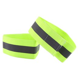 Wholesale Wrist Ankle Bands - 2018New 1 Pair High Visibility Band Reflective Wristbands Elastic Ankle Wrist Bands For Waling Cycling Running Outdoor Sports
