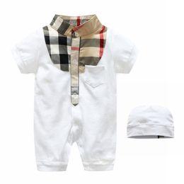 Wholesale Led Shorts - kids clothes kids rompers unisex Summer Pure Cotton Short Sleeve Baby Lin Tai Lead Joker Newborn Ha. Children Climb Clothes