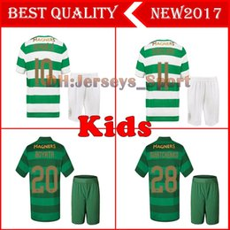 Wholesale Celtic Kits - Kids set 2017 2018 Scotland Celtic Soccer Jersey 17 18 Home away DEMBELE GRIFFITHS LUSTIG BROWN youth child kits shirt